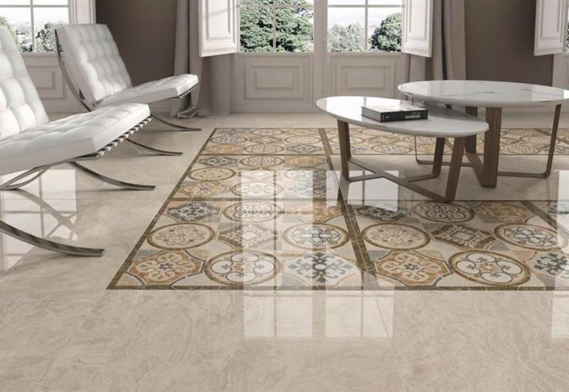 Grespania Granada Series Porcelain Floor Tile Combination Of Plain Pieces 31x31