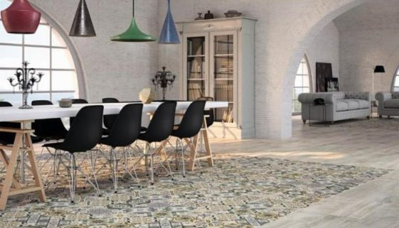 Roca Ceramica - Boulevard Series porcelain tile. Ceramic patchwork. Photo Credit - Tile of Spain.