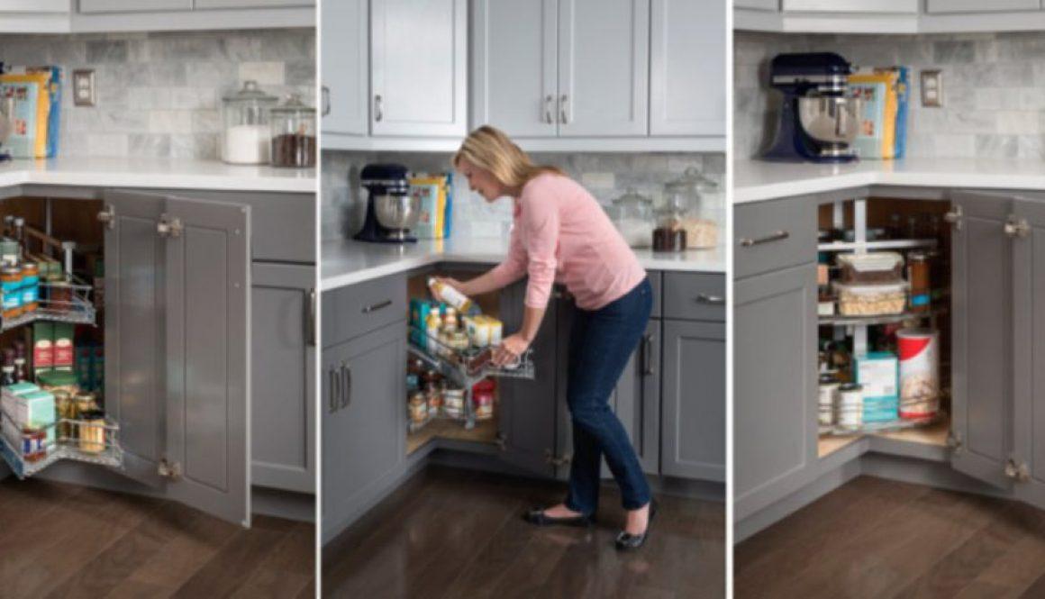 Hardware Resources introduces Easy 360 Susan corner cabinet organizer