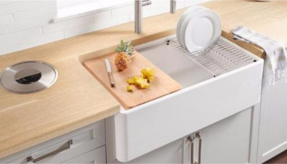 BLANCO introduces the PROFINA 36 inch Apron Front Single Bowl sink. Photo Credit Blanco. Cover