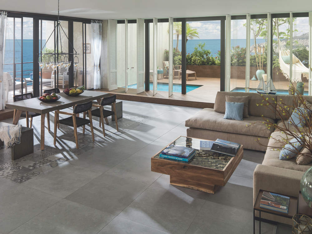 Porcelanosa Bluestone Ston-Ker. Photo Credit Tiles of Spain