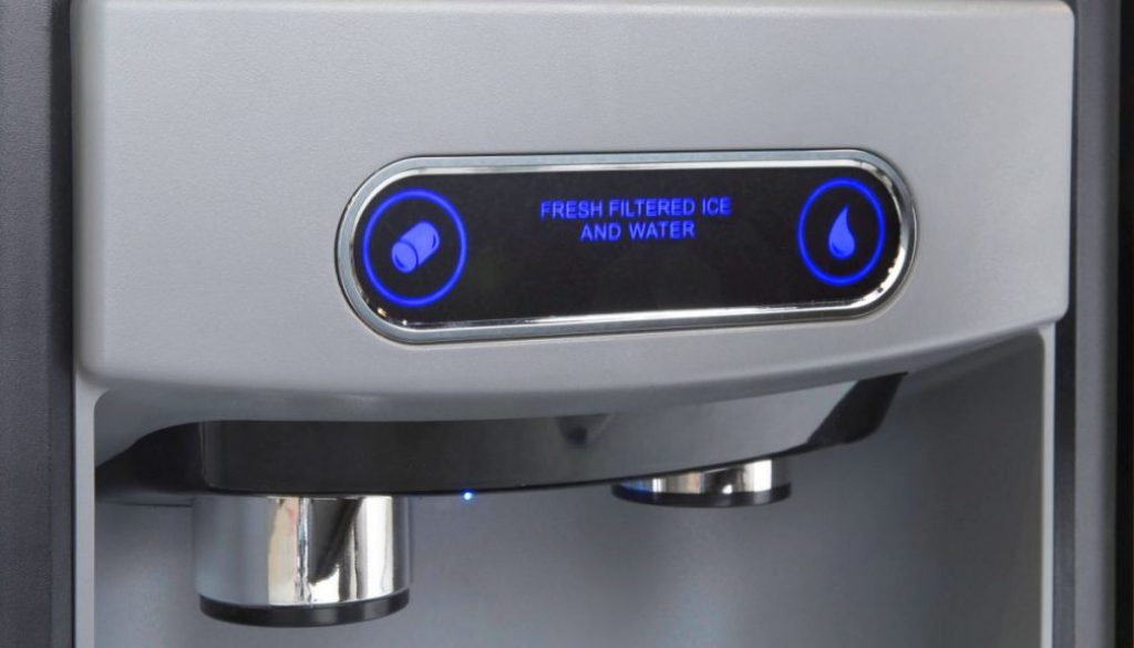 Viking Range Ice and Water Dispenser with Chewable Nugget Ice. Photo Credit Viking Range