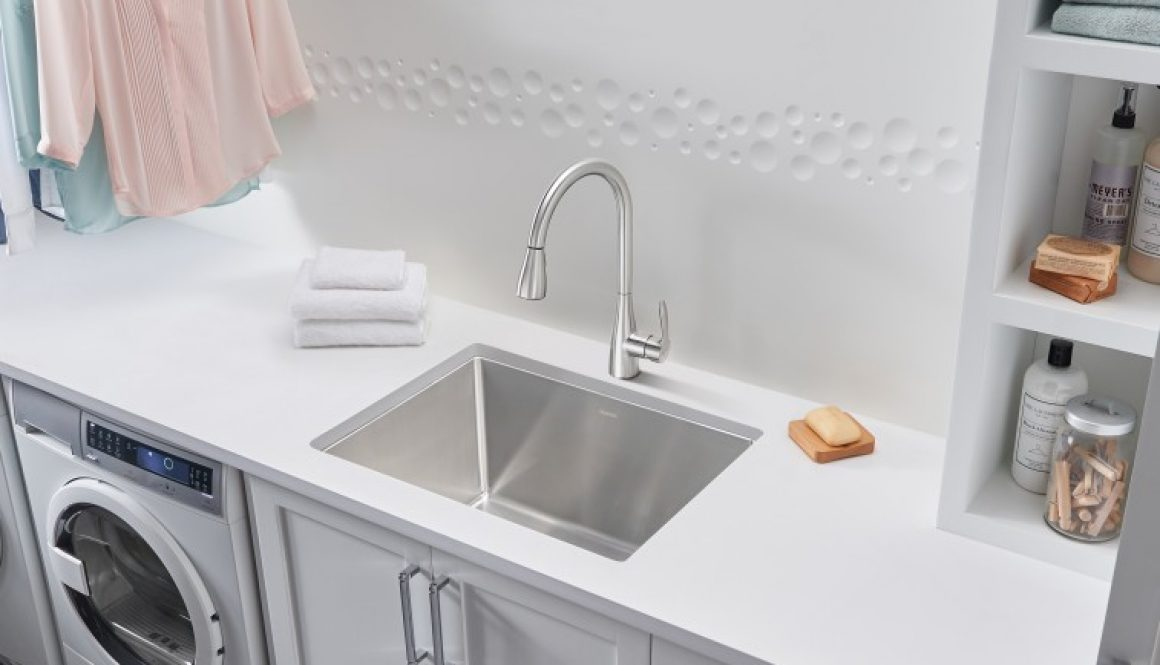 BLANCO gives the laundry room a stylish makeover and carefree functionality with the dual mount QUATRUS™ R15 Laundry Sink Copyright BLANCO